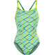 Funkita Diamond Back One Piece Svømmedragt Damer gul/blå